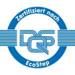 Footer Zertifizierung ECOSTEP Logo 200x200px | SEGNO