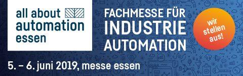 """Erfolgreiche Teilnahme an der """"all about automation Essen 2019"""""""